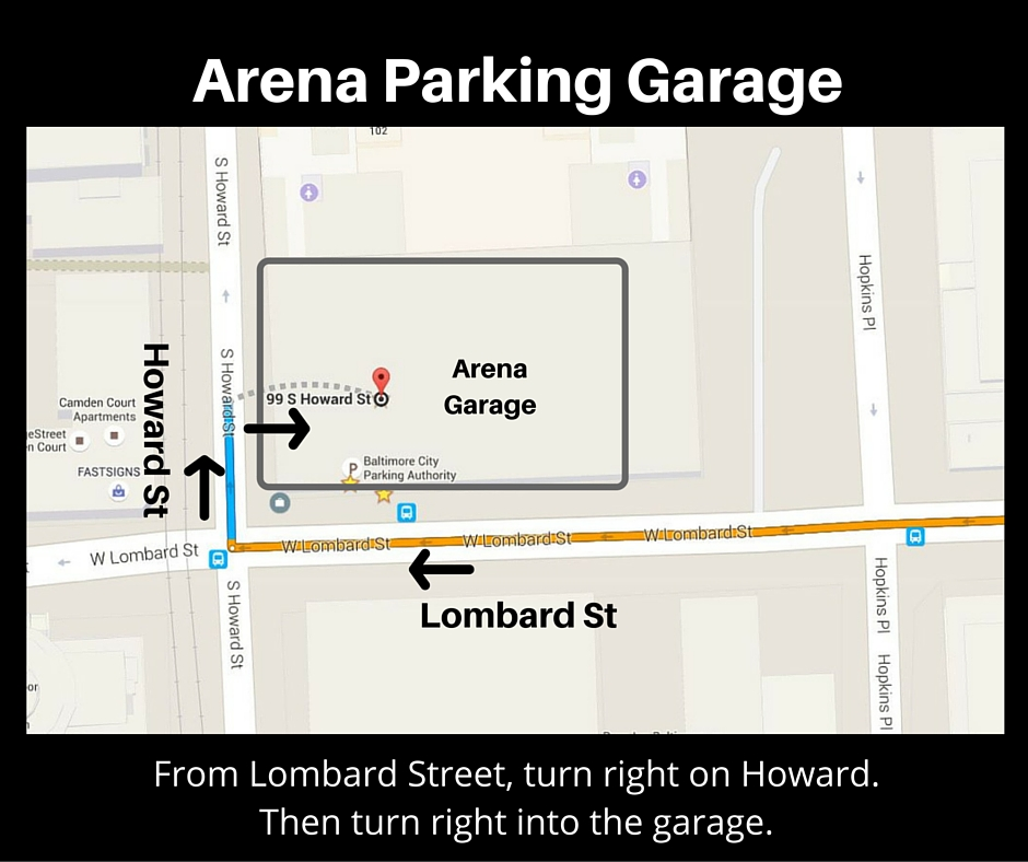 Arena Parking Garage Directions