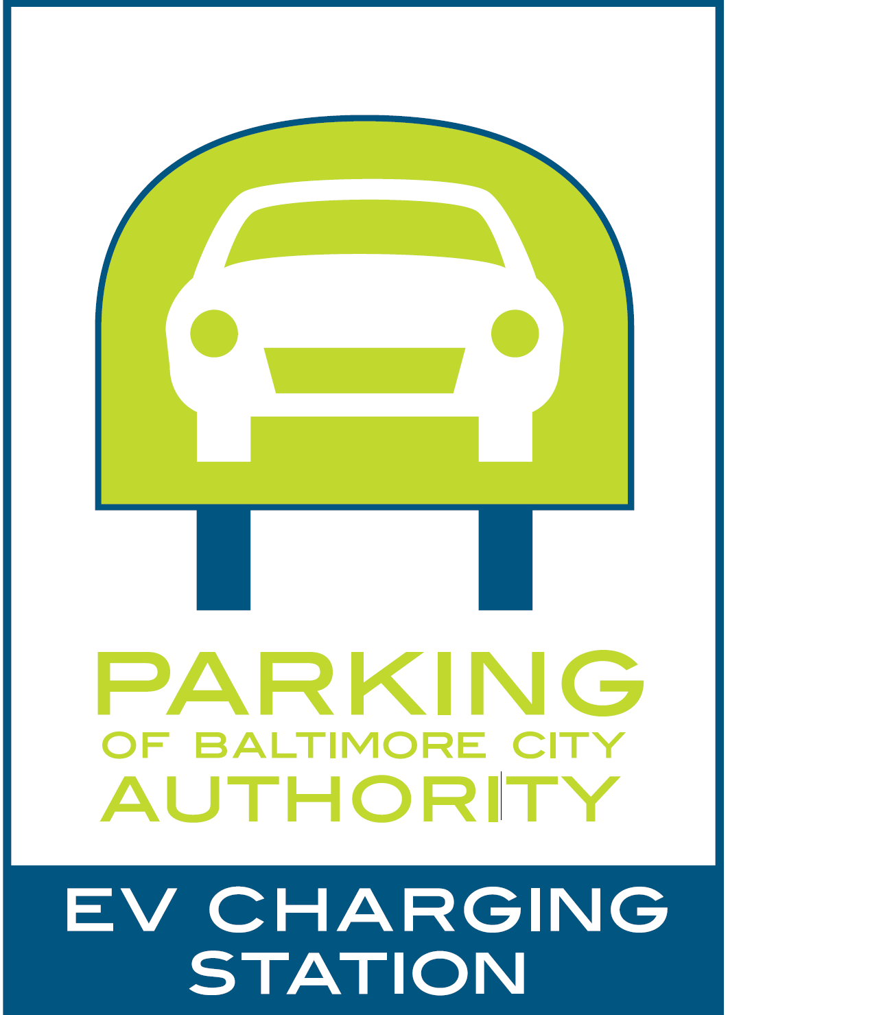 Electric Vehicle Charging Station Logo