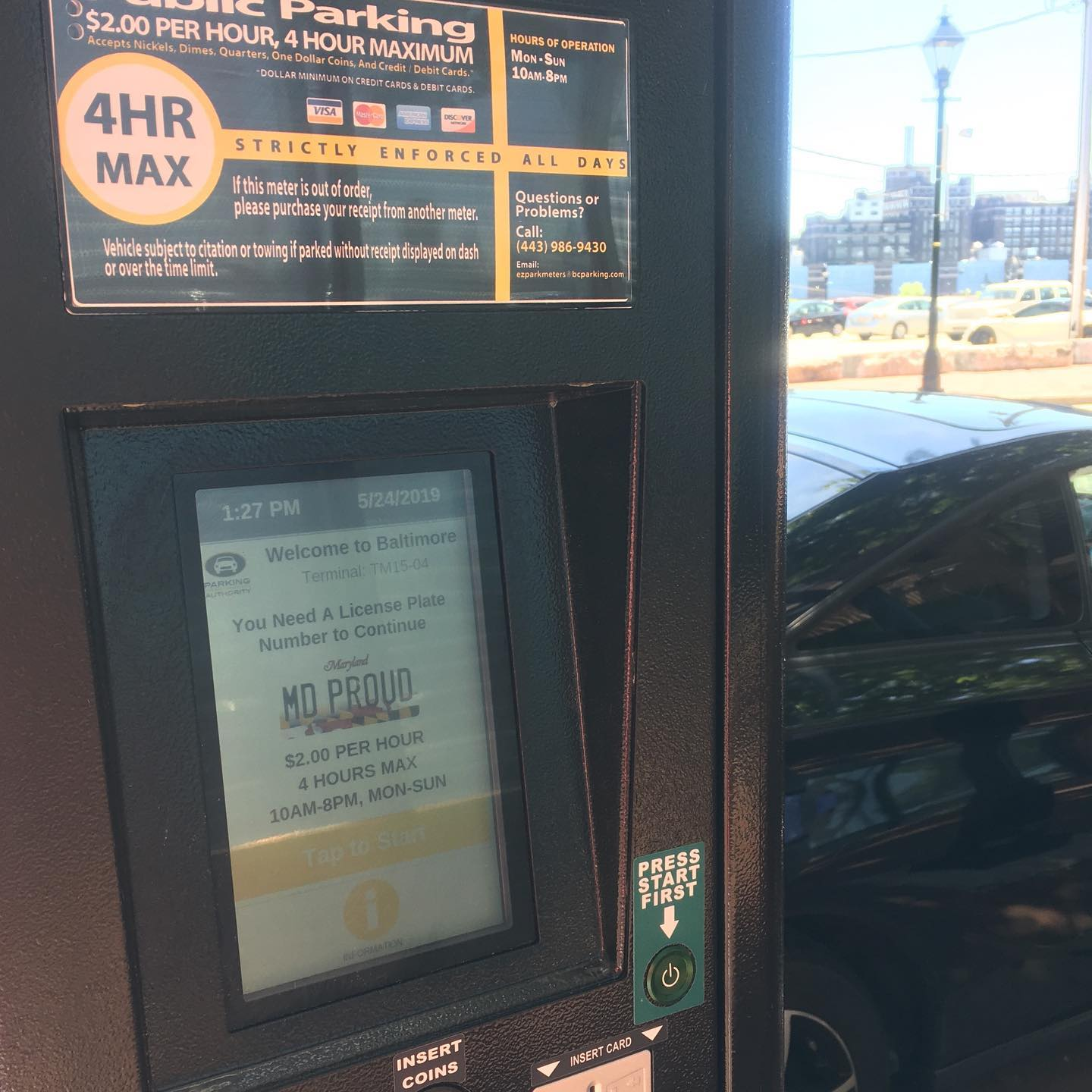 New touch screen parking meters