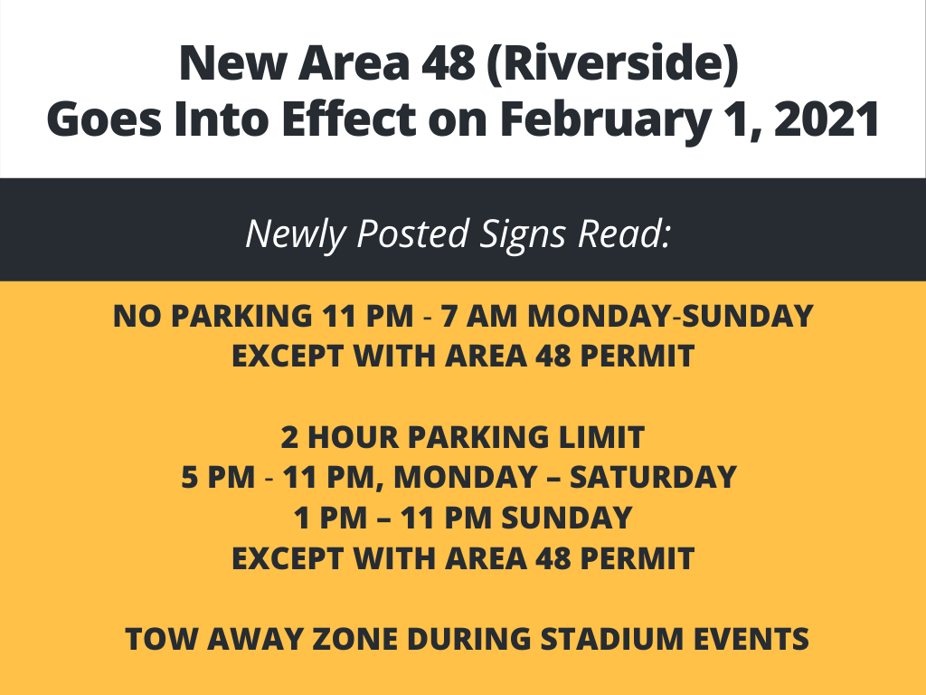 New Area 48 Parking Restrictions